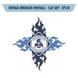 θέμα εικονιδίων αμερικανικού ποδοσφαίρου Στοκ Εικόνες