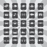Θέμα εικονιδίων κουμπιών Στοκ Φωτογραφία
