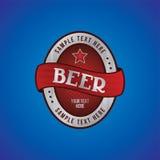 Θέμα ετικετών μπύρας Στοκ εικόνες με δικαίωμα ελεύθερης χρήσης