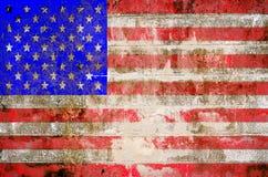θέμα ΗΠΑ σημαιών ανασκόπησης grunge Στοκ Εικόνες