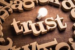 Θέμα ιδέας εμπιστοσύνης στοκ εικόνες
