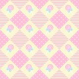 Θέμα κρητιδογραφιών γεωμετρίας Lollipop σχεδίων Στοκ εικόνες με δικαίωμα ελεύθερης χρήσης