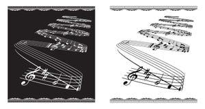 θέμα μουσικής Στοκ Εικόνα