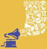 Θέμα μουσικής Στοκ φωτογραφία με δικαίωμα ελεύθερης χρήσης