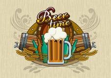 Θέμα μπύρας Στοκ εικόνες με δικαίωμα ελεύθερης χρήσης