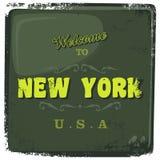 Θέμα Νέα Υόρκη τουρισμού διανυσματική απεικόνιση