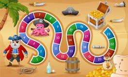 Θέμα πειρατών παιχνιδιών φιδιών και σκαλών ελεύθερη απεικόνιση δικαιώματος