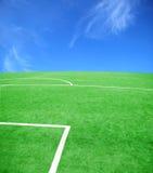 θέμα ποδοσφαίρου ποδοσφαίρου Στοκ Εικόνες