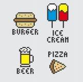 Θέμα τροφίμων και ποτών ελεύθερη απεικόνιση δικαιώματος