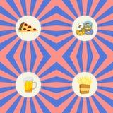 Θέμα τροφίμων και ποτών διανυσματική απεικόνιση