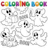 Θέμα 1 φαντασμάτων βιβλίων χρωματισμού ελεύθερη απεικόνιση δικαιώματος
