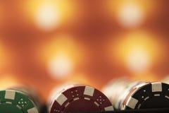 Θέμα χαρτοπαικτικών λεσχών Στοκ φωτογραφία με δικαίωμα ελεύθερης χρήσης