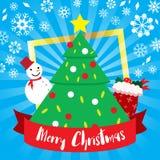 Θέμα Χριστουγέννων προτύπων Στοκ φωτογραφία με δικαίωμα ελεύθερης χρήσης