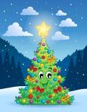 Θέμα 4 χριστουγεννιάτικων δέντρων Στοκ εικόνα με δικαίωμα ελεύθερης χρήσης