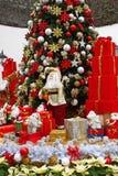 θέμα santa δώρων Χριστουγέννων Στοκ Φωτογραφία