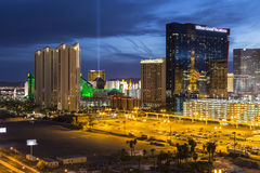Θέρετρα Las Vegas Strip Στοκ Φωτογραφίες