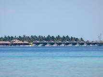 Θέρετρο άποψης στις Μαλδίβες Στοκ εικόνα με δικαίωμα ελεύθερης χρήσης