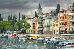 Θέρετρο μικρού χωριού Selce κοντά σε Crikvenica Istria, Κροατία στοκ φωτογραφίες με δικαίωμα ελεύθερης χρήσης