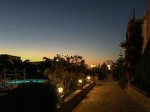 Θέρετρο της Κρήτης τη νύχτα στοκ εικόνα