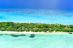 Θέρετρο & SPA Μαλδίβες του Palm Beach στην ατόλλη Lhaviyani Στοκ Εικόνες