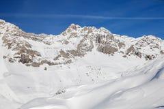 Θέρετρο ST Anton AM Arlberg alpine skiing Στοκ φωτογραφία με δικαίωμα ελεύθερης χρήσης