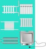 θέρμανση εγκαταστάσεων συσκευών ελεύθερη απεικόνιση δικαιώματος