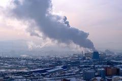 θέρμανση παραλλαγής καπνού ατμοσφαιρικής ρύπανσης Στοκ Εικόνες