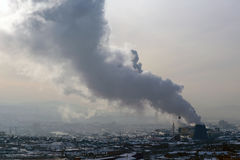 θέρμανση παραλλαγής καπνού ατμοσφαιρικής ρύπανσης Στοκ φωτογραφία με δικαίωμα ελεύθερης χρήσης