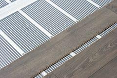 θέρμανση πατωμάτων ταινιών άνθρακα Στοκ φωτογραφία με δικαίωμα ελεύθερης χρήσης