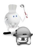 θέρμανση του κύριου πιάτο&u Απεικόνιση αποθεμάτων