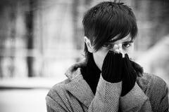 θέρμανση χεριών Στοκ φωτογραφία με δικαίωμα ελεύθερης χρήσης