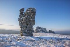 Θέσεις διάβρωσης Οροπέδιο Manpupuner, Ρωσία Στοκ φωτογραφία με δικαίωμα ελεύθερης χρήσης
