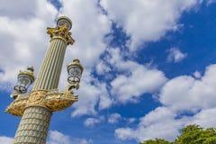 Θέσεις λαμπτήρων Place de Λα Concorde στο Παρίσι Στοκ Εικόνα