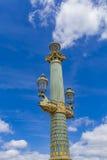 Θέσεις λαμπτήρων Place de Λα Concorde στο Παρίσι Στοκ φωτογραφία με δικαίωμα ελεύθερης χρήσης