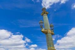 Θέσεις λαμπτήρων Place de Λα Concorde στο Παρίσι Στοκ εικόνα με δικαίωμα ελεύθερης χρήσης
