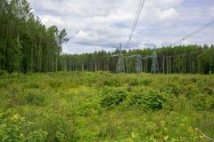 Θέσεις με τα ηλεκτρικά καλώδια Στοκ εικόνες με δικαίωμα ελεύθερης χρήσης