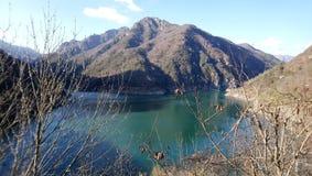Θέσεις Navazzo Garda λιμνών βουνών Στοκ Φωτογραφίες