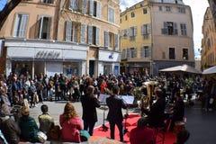 Θέση Άγιος Honore, Aix-En-Provence, bouches-du-Ροδανός, Γαλλία μουσικής οδών στοκ εικόνες με δικαίωμα ελεύθερης χρήσης