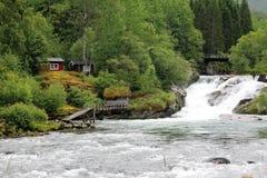Θέση αλιείας Hellesylt Στοκ Εικόνες