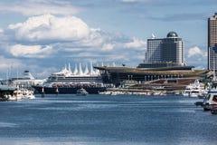 Θέση Βανκούβερ λιμενικών κέντρου και του Καναδά στοκ φωτογραφία με δικαίωμα ελεύθερης χρήσης