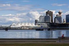 Θέση Βανκούβερ λιμενικών κέντρου και του Καναδά στοκ φωτογραφία