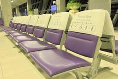 Θέση για άτομα χρήζοντα βοήθεια στον αερολιμένα Στοκ Εικόνες