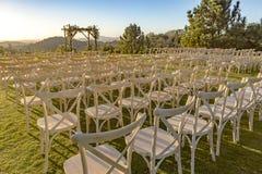 Θέση για τη γαμήλια τελετή στη χλόη στοκ εικόνα με δικαίωμα ελεύθερης χρήσης