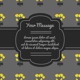 Θέση για το κείμενο με τα λουλούδια σύσταση πένθους πλαισίων σχεδίου Νεκρική κάρτα διανυσματική απεικόνιση