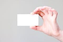 θέση εκμετάλλευσης βραχιόνων businesscard κενή Στοκ εικόνα με δικαίωμα ελεύθερης χρήσης