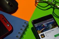 Θέση & εργαλειοθήκη dev app ΠΣΤ στην οθόνη Smartphone στοκ φωτογραφίες