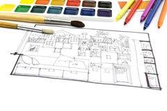 Θέση εργασίας ενός σχεδιαστή Στοκ εικόνα με δικαίωμα ελεύθερης χρήσης