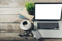 Θέση εργασίας, εργαλεία γραφείων Στοκ εικόνες με δικαίωμα ελεύθερης χρήσης