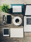 Θέση εργασίας, εργαλεία γραφείων Στοκ Φωτογραφίες