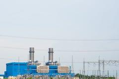 Θέση ηλεκτρικής ενέργειας και υποσταθμός ηλεκτρικής δύναμης υψηλής τάσης Στοκ Φωτογραφίες